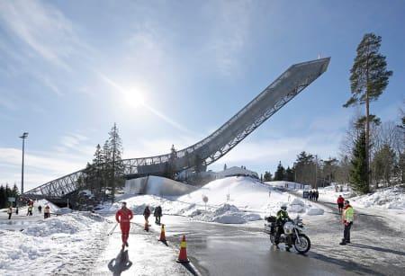RAILPARK: Omtrent her –på høyde med skimuseet- kommer det gratis, flomeblyst railpark i løpet av januar neste år.