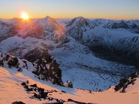 De siste solstrålene i november 2012