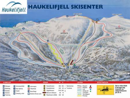 HAUKELIFJELL: Skredet gikk i Haukelifjell skisenter i Telemark.