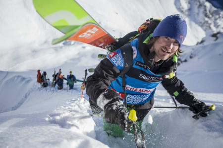 KLAR FOR REVANSJ: Dennis Risvoll kjører Chamonix-konkurransen i Andorra torsdag. Her fra fjorårets renn i Chamonix. Foto: Jeremy Bernard / FWT