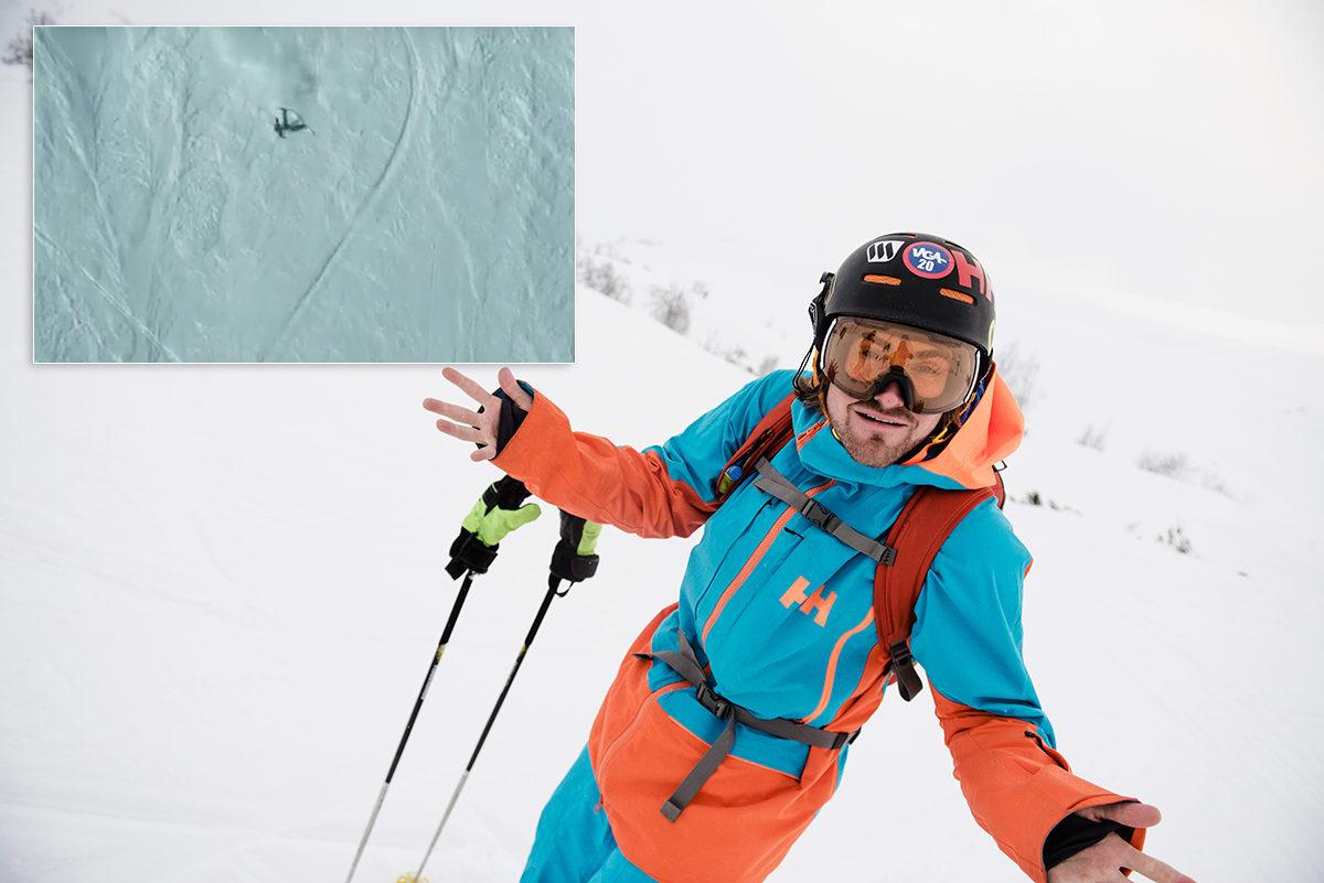 KRÆSJA: Dennis Risvoll kræsjet i Alaska, men lover show i Verbier. Foto: Martin I. Dalen / Skjermdump