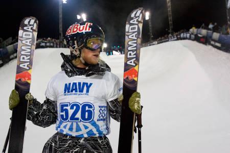 HASJ: Tanner Hall forteller at han røyket hasj i forbindelse med alle sine X Games-medaljer. Her fra Superpipe i 2012. Foto: ESPN