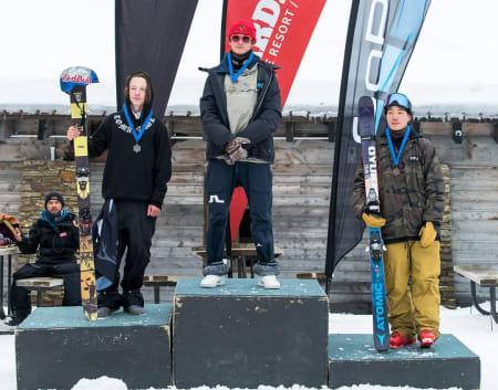 PÅ TOPPEN: Birk Ruud vant i coursen hvor det kjøres verdenscup neste uke. Foto: Nor Freeski