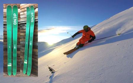 PRO: Dennis Risvoll er Norges beste konkurransefrikjører, og Norges eneste deltager i Freeride World Tour denne sesongen. Nå blir han innehaver av promodell-ski fra On3p. Foto: On3p/ Helly Hansen