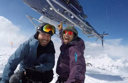 HELISKI: Kaj Zackrisson har vært på heliskitur til Chamonix. Foto: Privat