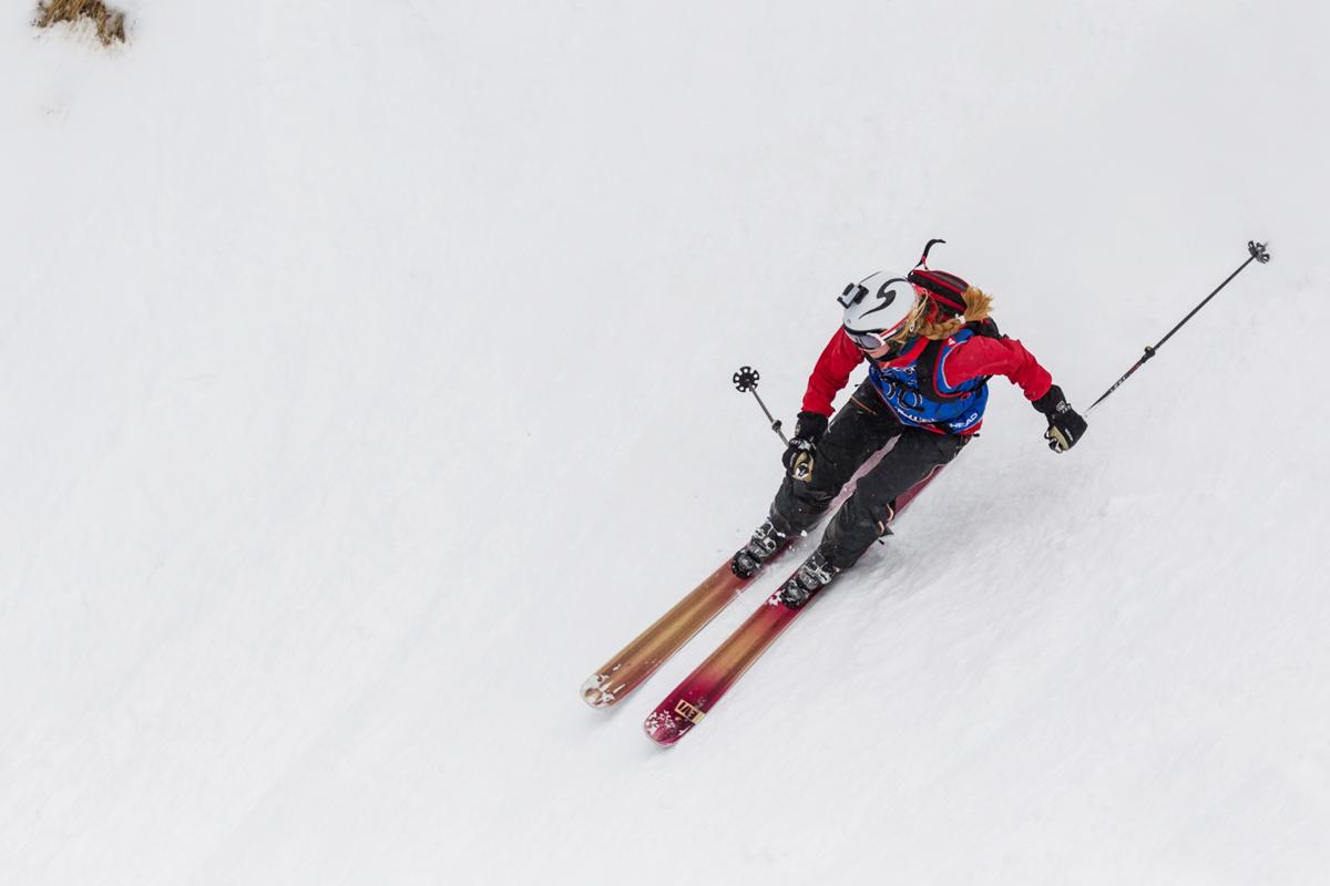 INN TIL SEIER: Her er Ida Gunleiksrud på vei inn til førsteplass i 2-stjerners FWQ-konkurransen i Verbier. Foto: Thomas Bakker