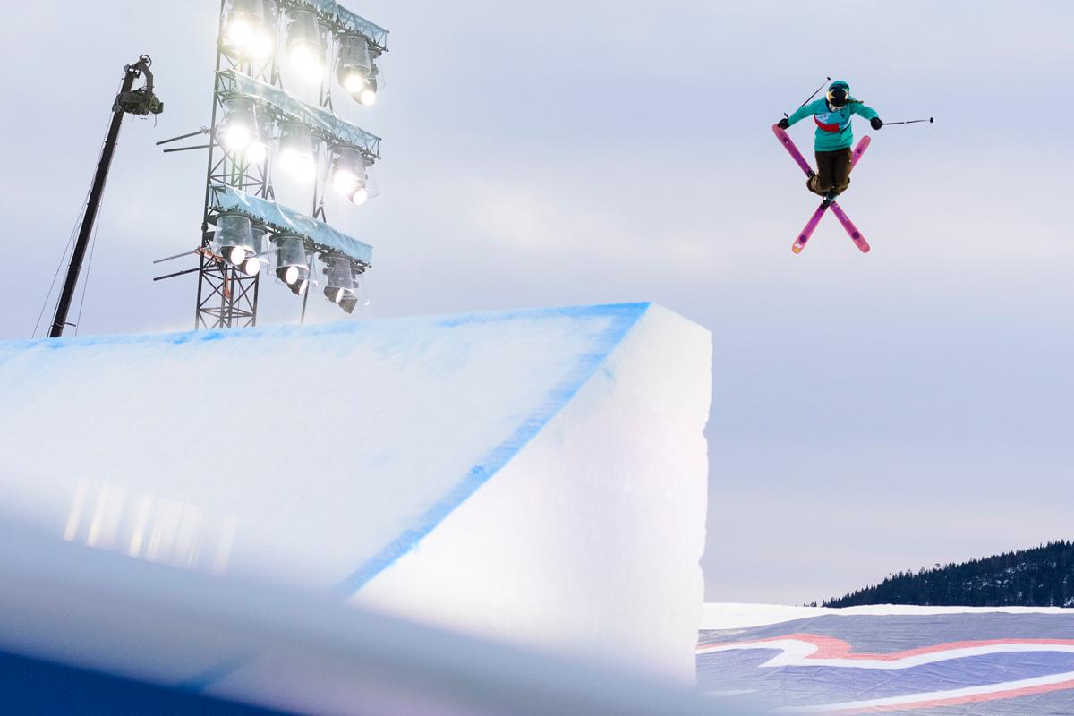 NOK EN SEIER: Johanne Killi – her fra da hun vant X Games på Hafjell i fjor – tok nok en viktig slopestyleseier denne helga. Foto: Brett Wilhelm