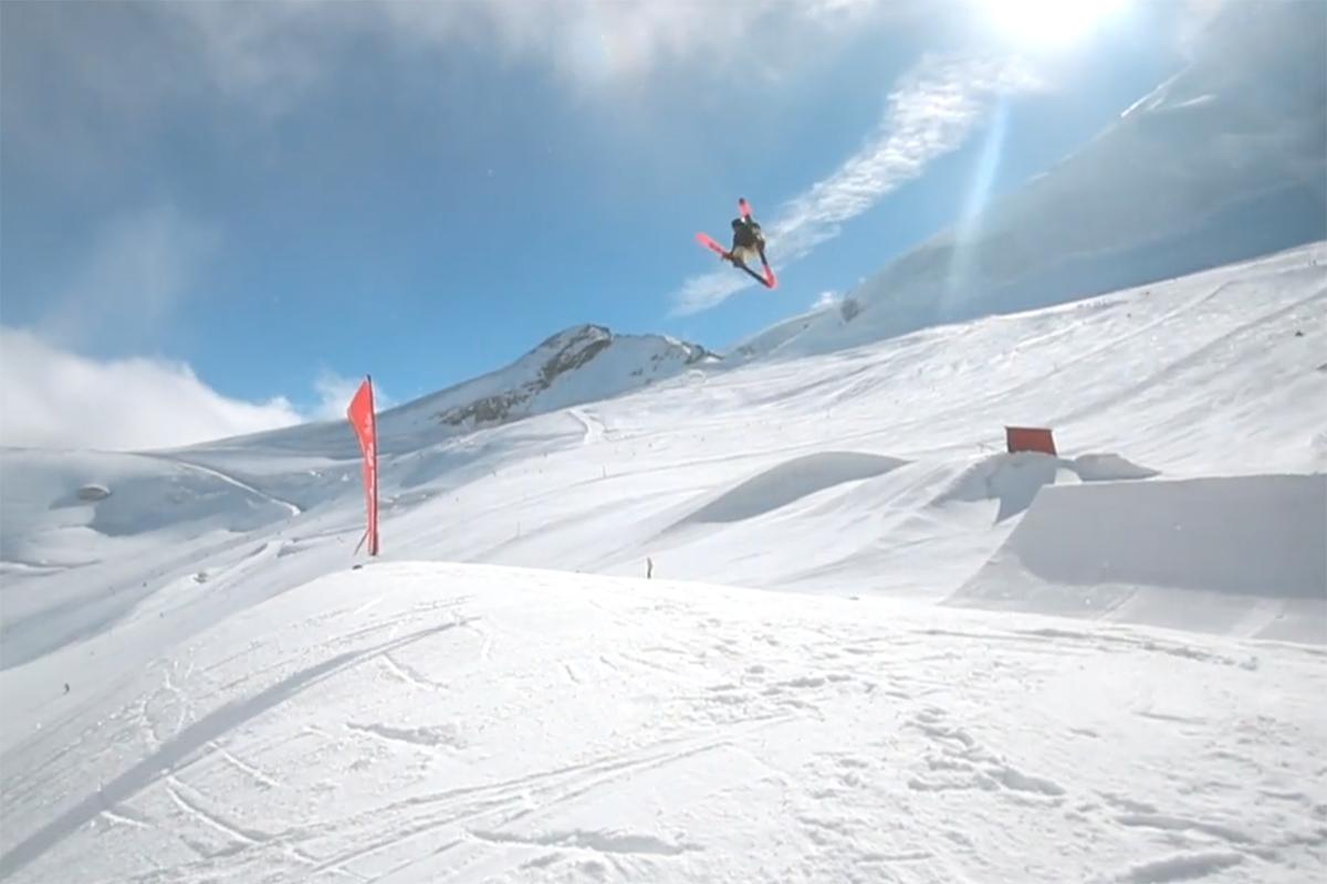 Se skitalentene herje i Saas-Fee