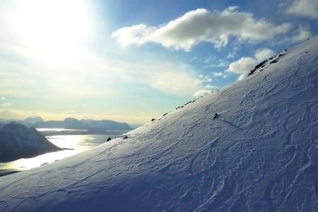 GODE FORHOLD: Slutten av påsken ble særdeles god for Lofoten. Foto: Skjermdump