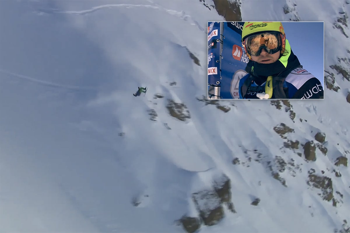KRÆSJA: Risvoll gikk stort, men bomma i Chamonix.