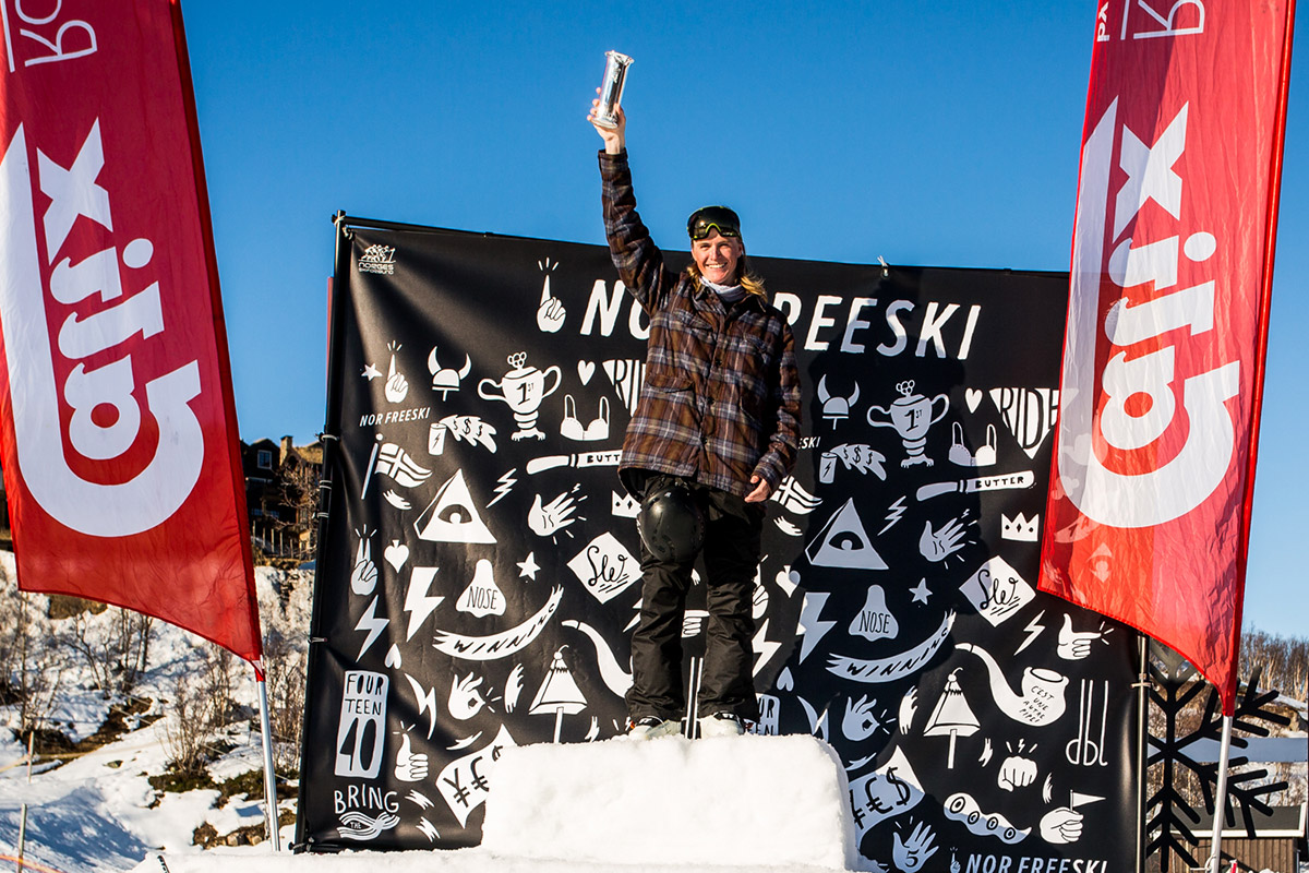 SEIER: Robert Andrè Ruud stod til slutt på toppen av pallen. Foto: Andreas Løve Storm Fausko / Nor Freeski