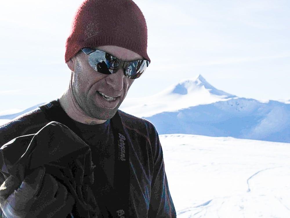 ALTETENDE: Andreas Haslestad har lært seg å nyte alt av snø. Foto: Erlend Sande