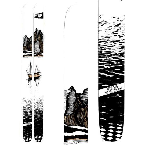 LITT NORSK: Ekstra artig med 2013/14-skia til Hoji er at den har et grafisk tema fra Norge.