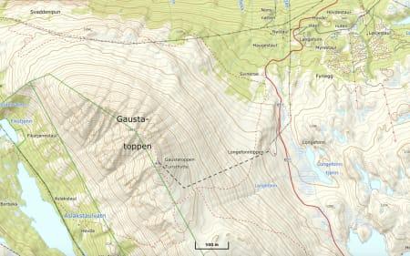 TOPPEN AV TELEMARK: Rennene fra Gaustatoppen går i østlig og nordlig retning.
