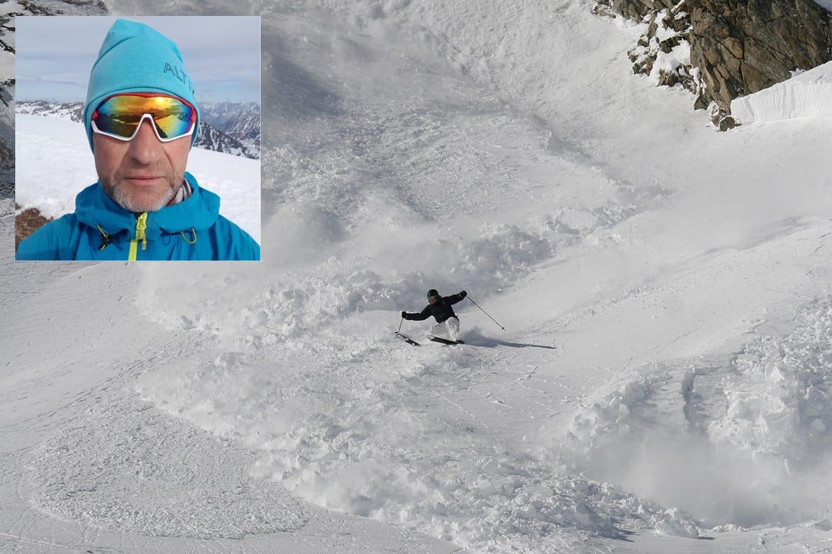 UVANLIG OPPFORDRING: Kronikkforfatter Petter Mjelva (innfelt) oppfordrer til å besøke vinterfjellet uten sender/ mottaker. Foto: Privat/ Tore Meirik (arkiv)