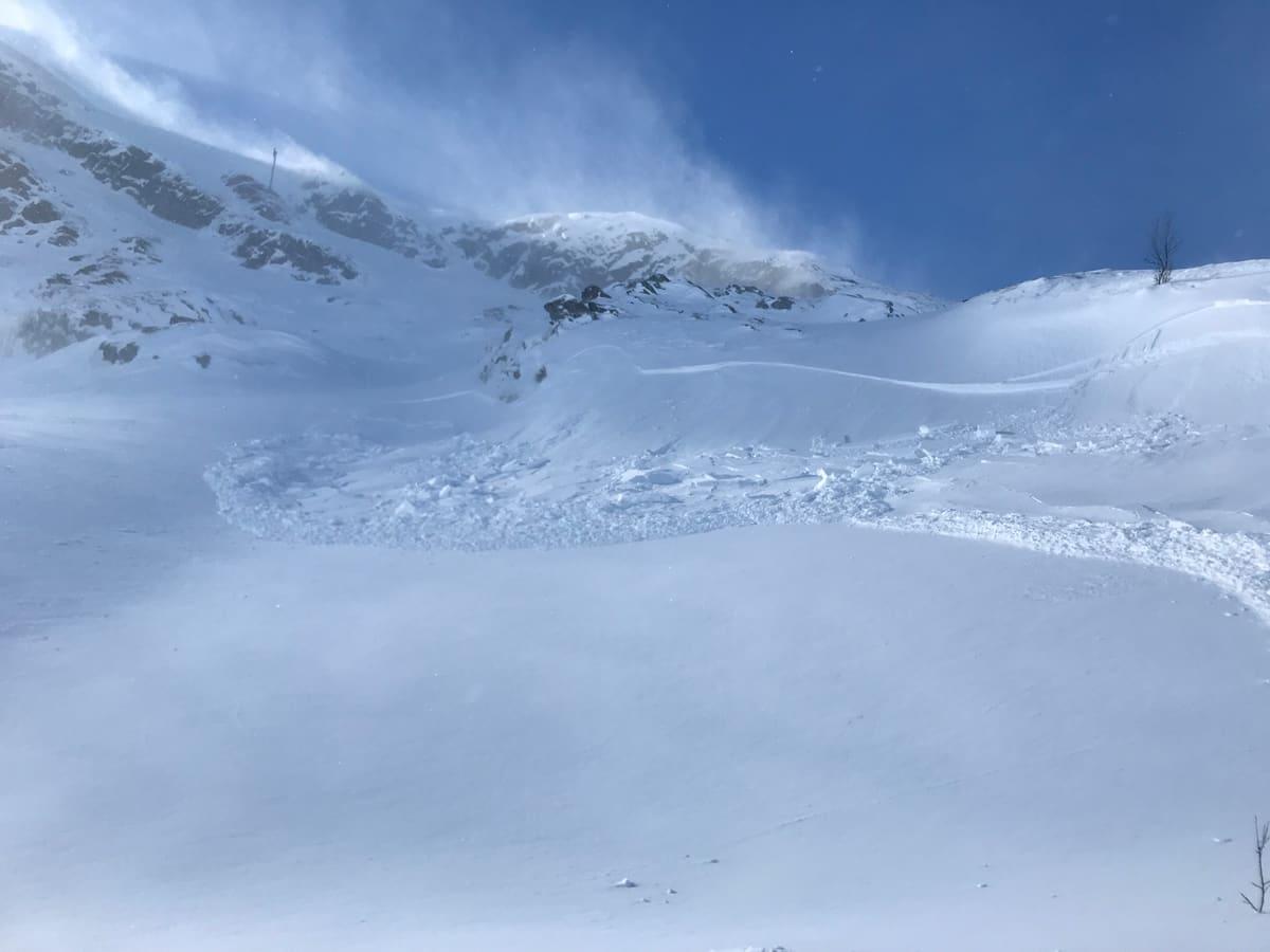 FILEFJELL: Dette skredet på Filefjell gikk av seg selv denne uka, og det er skumle skredforhold i store deler av Norge. Foto: Leif Øyvind Solemsli