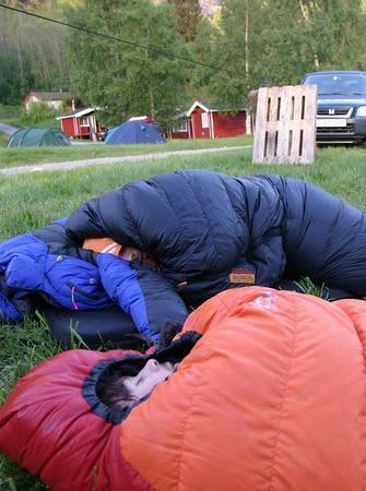 Slakklinerne bør være trygge på oppholdsvær når de bytter ut telt med line.