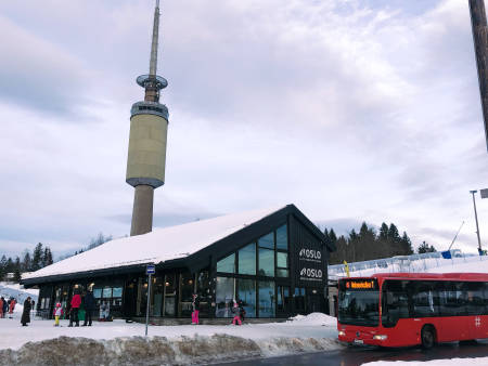PÅSKEFØRE: Det er gode snøforhold i Oslo Vinterpark tross regn og plussgrader de siste dagene.