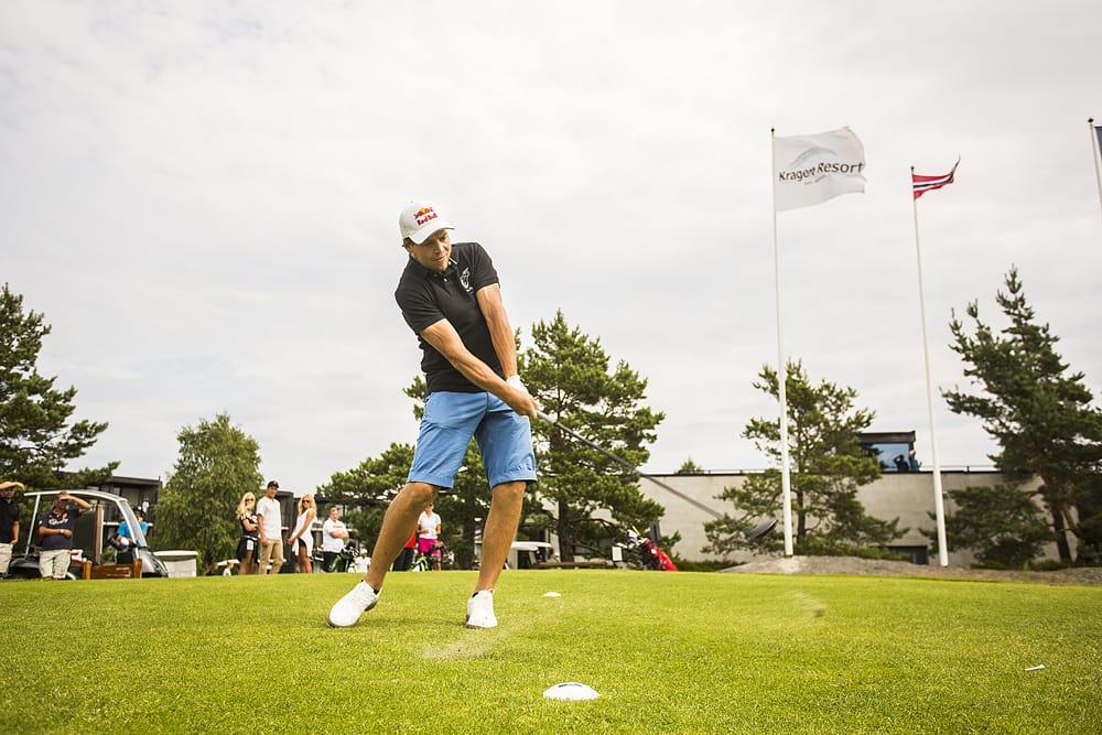 PK INVITERTE: Sist søndag inviterte PK Hunder til golfturnering i Kragerø. Foto: Mats Grimsæth