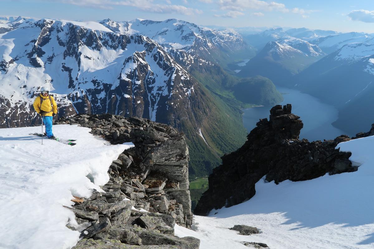 FANTASTISK: Både utsikten og skiføret var upåklagelig. Foto: Bård Smestad