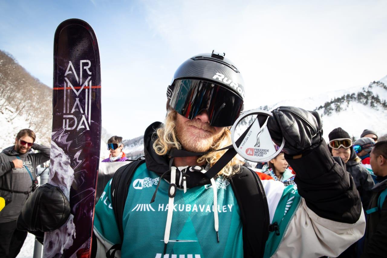 STERK START: Tanner Hall starter årets Freeride World Tour med andreplass i åpningsrennet i Hakuba. Foto: Hans Petter Hval