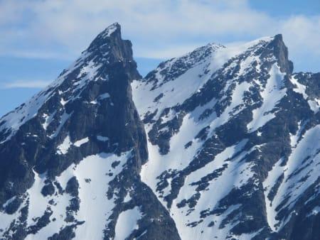 Utsikt mot Venjetindene fra Blånebba, 1320 moh