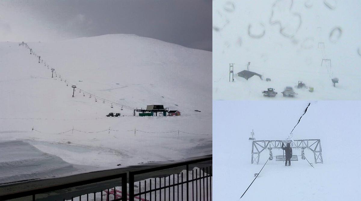 Stengt! Årsak: For mye snø