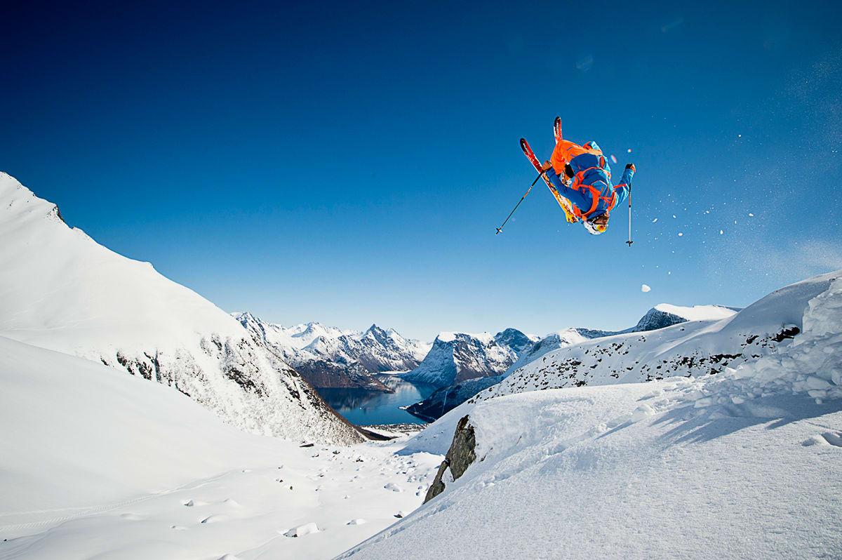 FILMSTJERNE: Karsten Gefle er den norske skifilmstjerna som er langt mer kjent nede i Europa enn hjemme i Norge. Han er sentral i den nye Nuit de la Glisse-filmen, som hadde premiere i Frankrikes største kino denne uka.  Foto: Vegard Beie