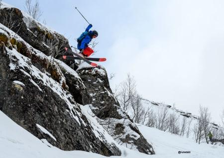 TALENT: Max Palm er fra Sverige, men bor i Chamonix. Han viste hvor nivået til verdenseliten ligger og vant U16-klassen for gutter. Foto: Rune Dahl