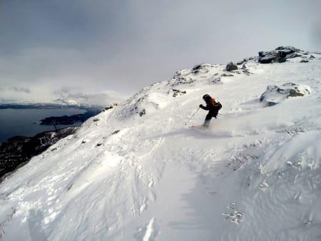 Med ulike startpunkter og bruk av partier med varierende vanskelighetsgrad ga konkurranseområdet nært løypene i Narvikfjellet passelige utfordringer for alle deltakere. Foto: Micke af Ekenstam