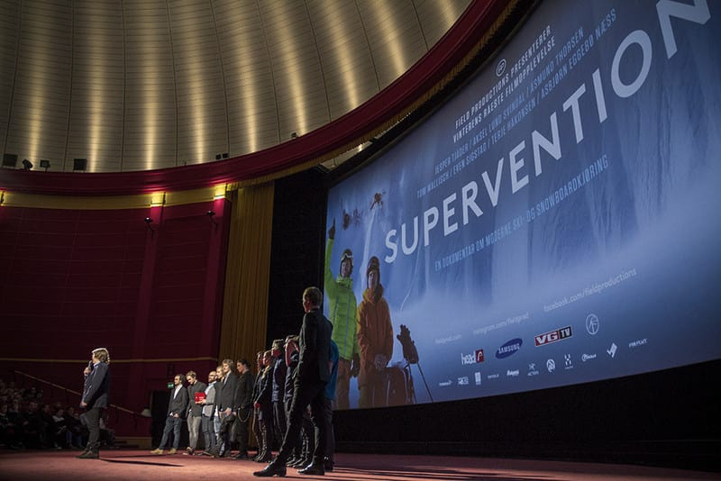 UMIDDELBAR SUKSESS: Over 12 000 kinogjengere fikk med seg Supervention premierehelga. Det er intet mindre enn imponerende for historiens første skifilm på norske kinoer. Bildet er fra premieren i Oslo. Foto: Hans Petter Hval