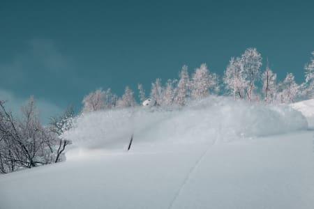 TIDENES SESONGSTART? Det er fantastiske forhold i Myrkdalen for tida, dette er fra sist helg. Foto: Rikard Landrin