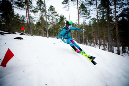 SUVEREN: Svenske Fanny Borgström på vei inn til andreplass i norgescuprunden i Todalen. Foto: Haakon Lundqvist