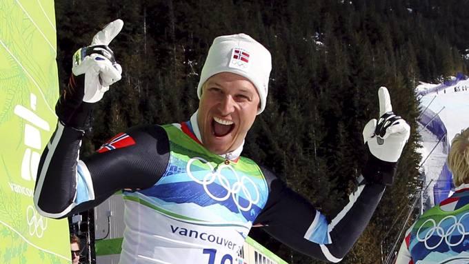 NY SPONSOR: Aksel Lund Svindal, her fotografert like etter han tok OL-gull i Super-g i Vancouver, har sikra seg avtale med Sweet Protection. Foto: Cornelius Poppe/ Scanpix