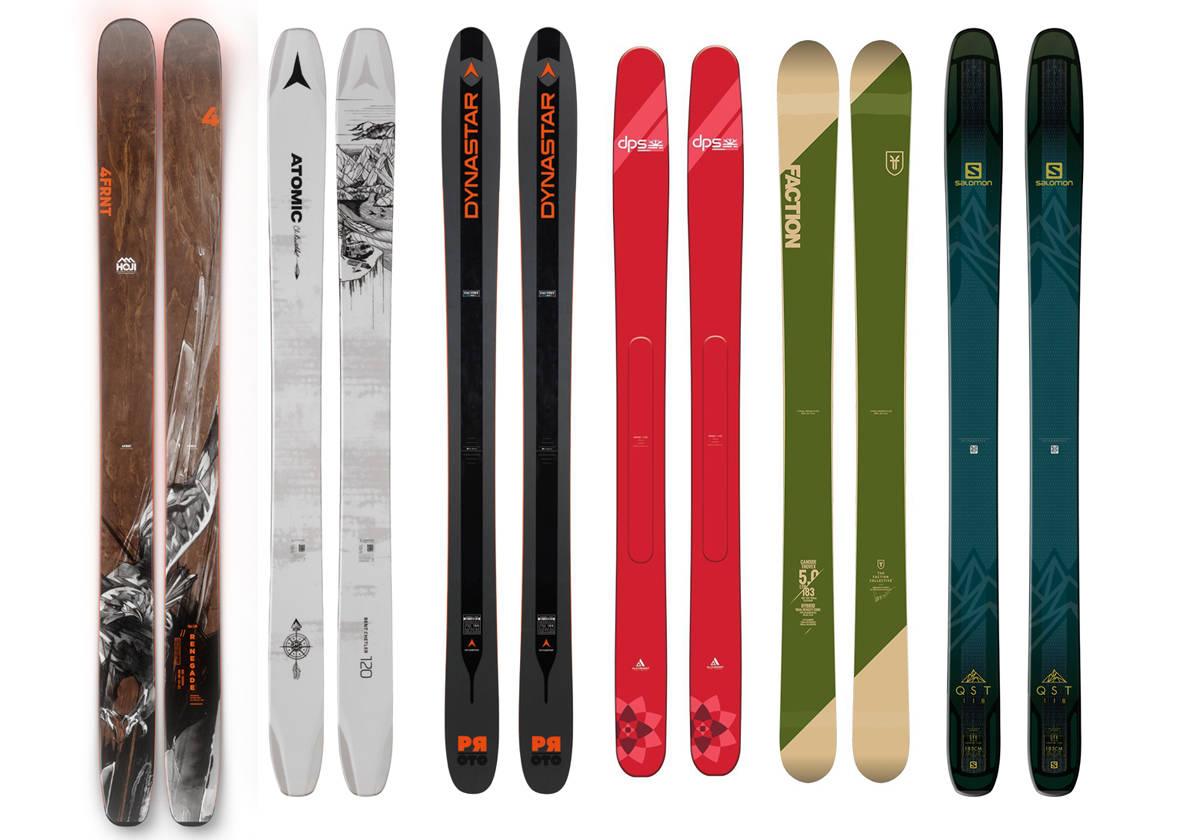 SESONGENS BREDESTE: Seks par ski er med i vår test av de nye og bredeste frikjøringsskiene for kommende vinter.