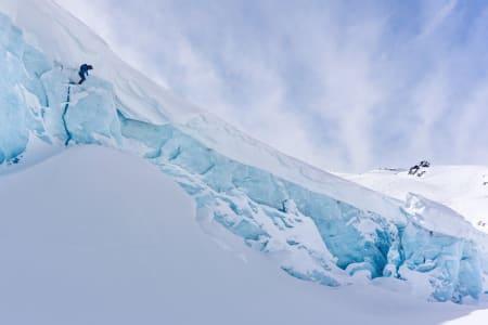 Dropp på Decker glacier. Foto: Petter Schive