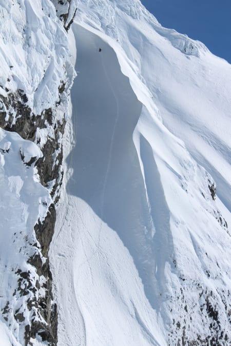 Vestrenna på Serratus Mountain