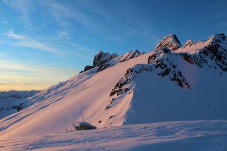 Solnedgang på Dione Peak