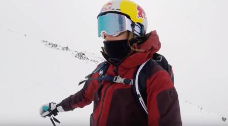 HIGH CAMP-DEBUTANT: Ikke mange highcampere har gogglesene inni hjelmen, men landets mest meritterte damejibber er et temmelig naturlig unntak.