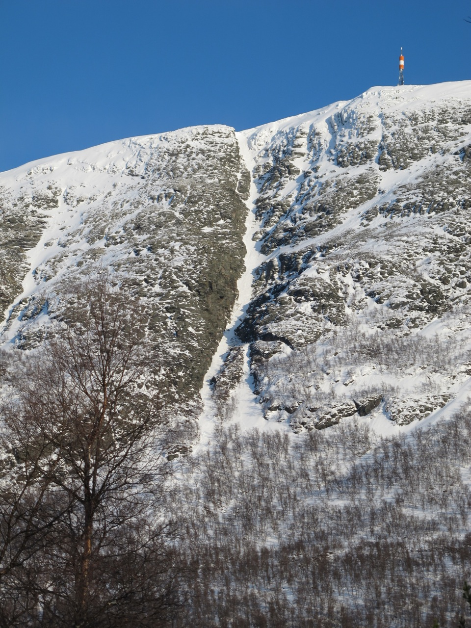TRANGT OM PLASSEN: Storskæra på Allmannberget gir en real utfordring. Det har flere smertelig fått erfare. Foto: Bård Smestad.