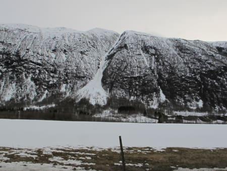 ÅRET DET VAR SÅ BRATT: Ingen tvil om at det er bratt ned Sauerenna/Gjørarenna i Sunndalen Foto: Bård Smestad.