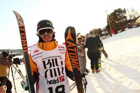 TRIPPELKONGEN: 16 år gamle Luca Tribondeau gjorde trippelcork 16 på løpende bånd i dag. Foto: Tore Meirik
