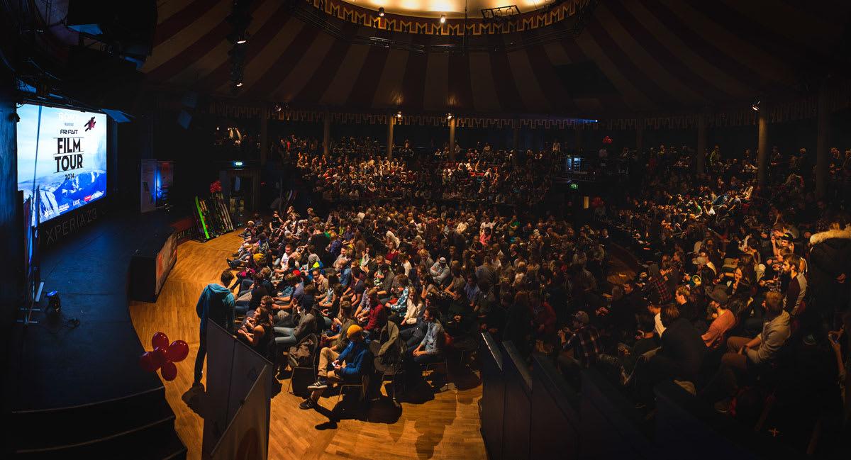 HØYDEPUNKT: Fri Flyt Film Tour-stoppen i Trondheim er alltid et av turneens høydepunkt, og tirsdag denne uka var slett ikke noe unntak. Foto: Torbjørn Buvarp