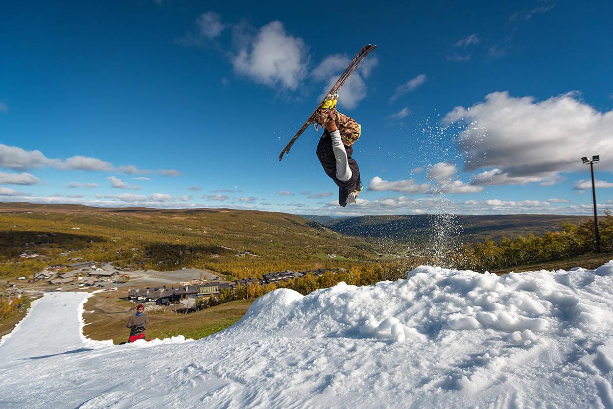 SESONGÅPNET: Geilo inviterte alle til den 400 meter lange løypa i helga. Foto: Emil Eriksson