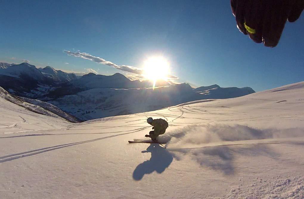 DRØMMEFØRE: Denne vinteren har 20 av Thomas Riis´ 22 skidager vært av dette slaget.