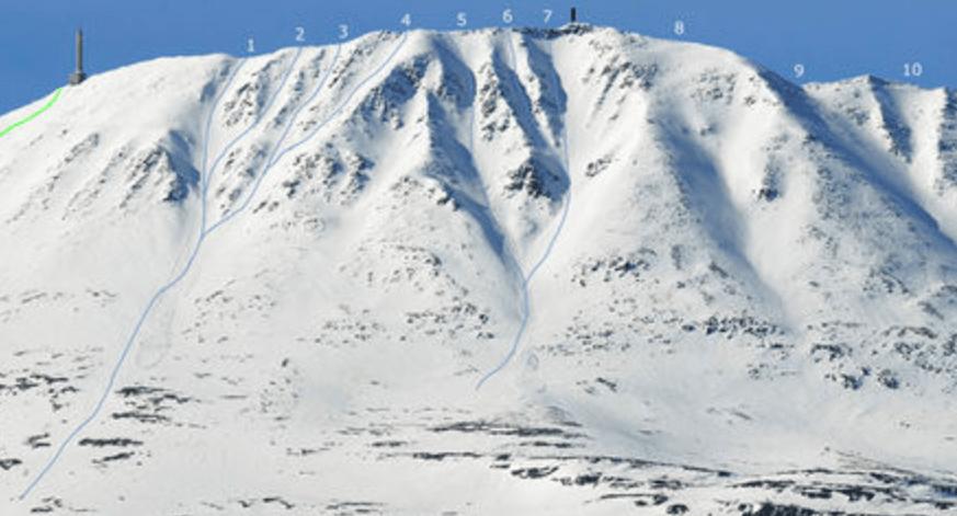 RENNE NR 7: Bildet skal ha skjedd i renne nr 7. Dette er et bilde fra en tidligere vinter fra en forumtråd på friflyt.no.