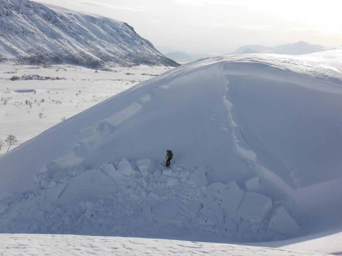 SKRED: Krevende forhold i nord. Foto: Maria Leganger.