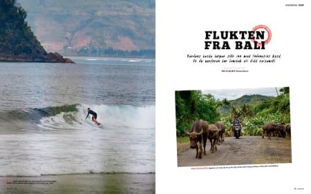 BALISURF: Thomas Kleiven har vært på surfetur til Bali