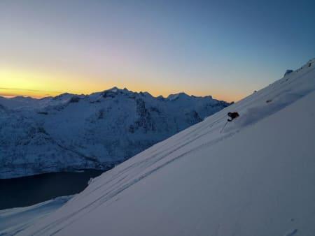Vant med solnedgang i Troms