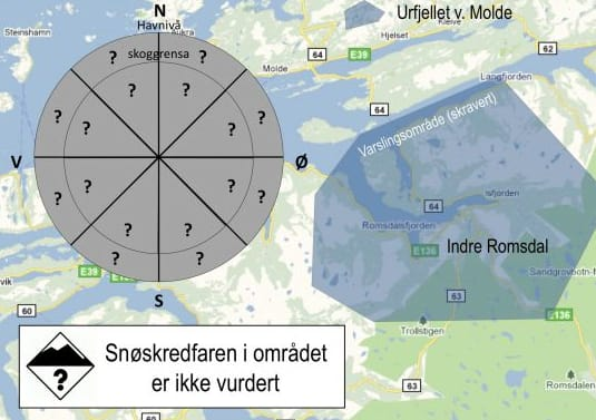 OMRÅDET: Skredvarslingsområdet vil gjelde Indre Romsdal og Urfjellet ved Molde.
